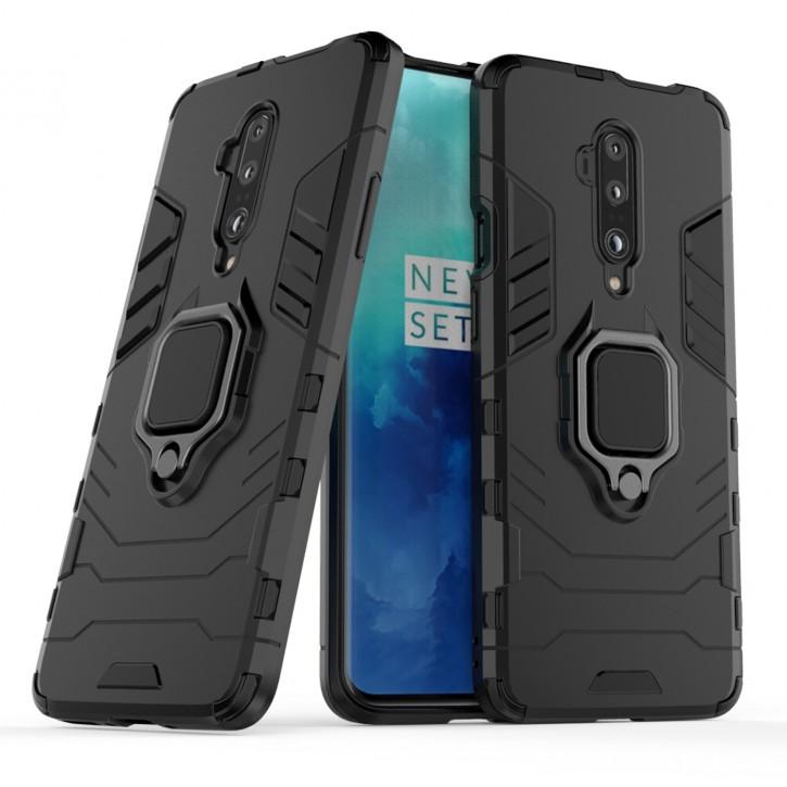 COOVY® Cover für Oneplus 7 Pro / 7T Pro Bumper Case, Plastik + TPU-Silikon, extra stark, Anti-Shock, Stand Funktion + Magnethalter kompatibel |
