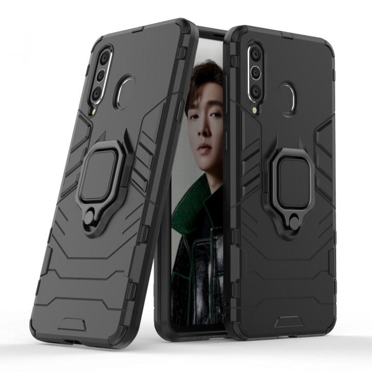 COOVY® Cover für Samsung Galaxy A8s SM-G8870 Bumper Case, Plastik + TPU-Silikon, extra stark, Anti-Shock, Stand Funktion + Magnethalter kompatibel |