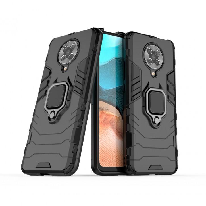 COOVY® Cover für Xiaomi Redmi K30 Pro / Poco F2 Pro Bumper Case, Plastik + TPU-Silikon, extra stark, Anti-Shock, Stand Funktion + Magnethalter kompatibel |