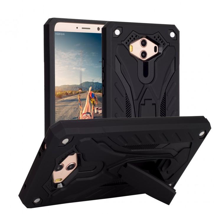 COOVY® Cover für Huawei Mate 10 Bumper Case, Hülle Doppelschicht aus Plastik + TPU-Silikon, extra stark, Anti-Shock, Standfunktion |