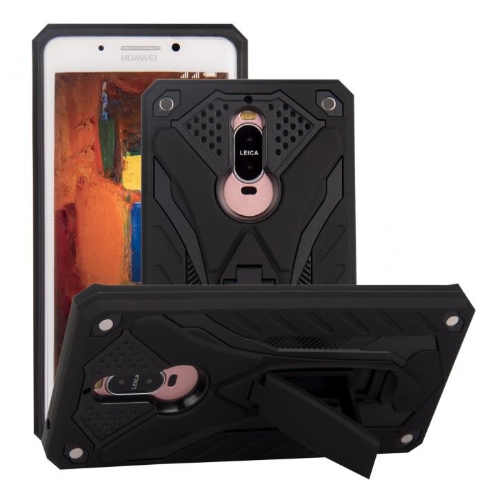 COOVY® Cover für Huawei Mate 9 pro Bumper Case, Hülle Doppelschicht aus Plastik + TPU-Silikon, extra stark, Anti-Shock, Standfunktion |