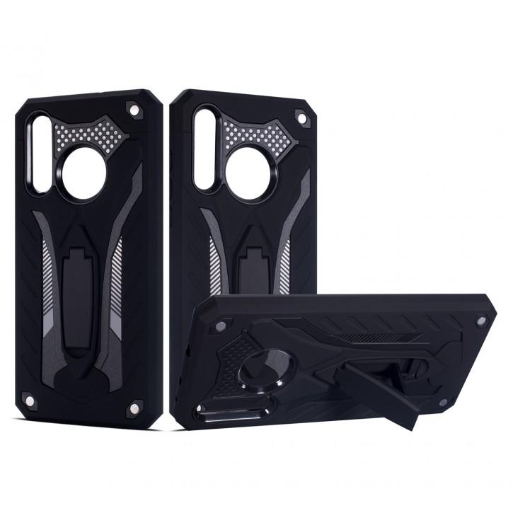 COOVY® Cover für Huawei NOVA 4 Bumper Case, Hülle Doppelschicht aus Plastik + TPU-Silikon, extra stark, Anti-Shock, Standfunktion |