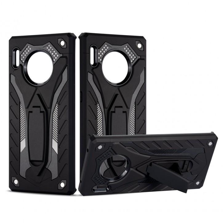 COOVY® Cover für Huawei Mate 30 pro / 5G Bumper Case, Hülle Doppelschicht aus Plastik + TPU-Silikon, extra stark, Anti-Shock, Standfunktion |
