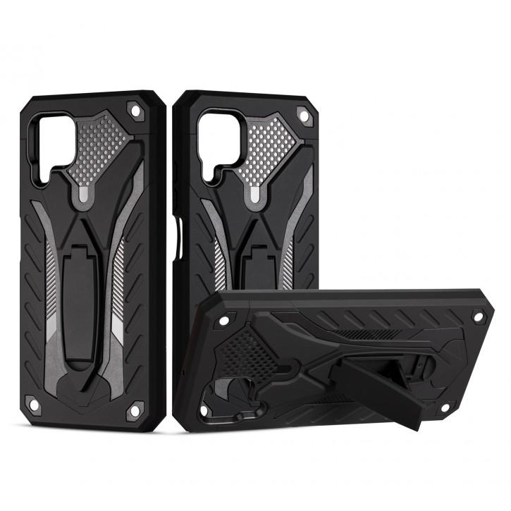 COOVY® Cover für Huawei P40 Lite / nova 6 SE / nova 7i Bumper Case, Hülle Doppelschicht aus Plastik + TPU-Silikon, extra stark, Anti-Shock, Standfunktion |