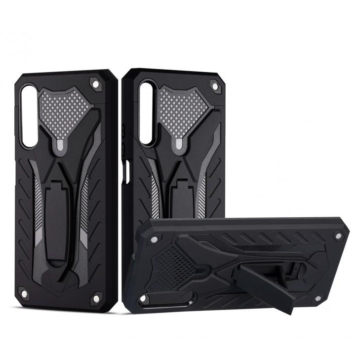 COOVY® Cover für Huawei Honor 9X Pro Bumper Case, Hülle Doppelschicht aus Plastik + TPU-Silikon, extra stark, Anti-Shock, Standfunktion |