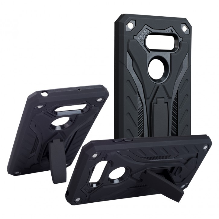 COOVY® Cover für LG V30 Bumper Case, Hülle Doppelschicht aus Plastik + TPU-Silikon, extra stark, Anti-Shock, Standfunktion |