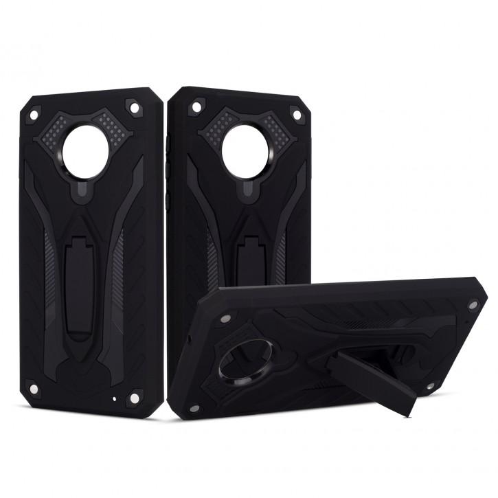 COOVY® Cover für Motorola Moto G6 plus Bumper Case, Hülle Doppelschicht aus Plastik + TPU-Silikon, extra stark, Anti-Shock, Standfunktion |