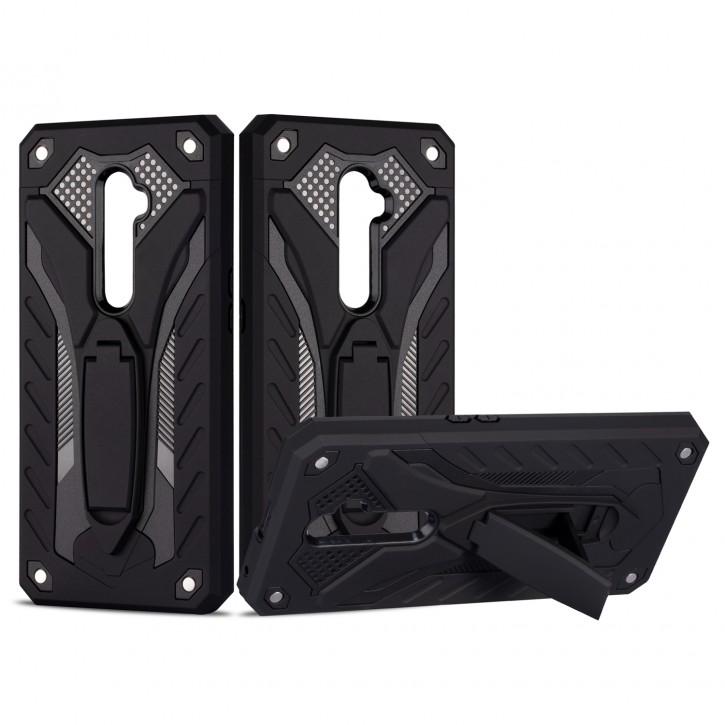 COOVY® Cover für Oppo Reno 2 Z / Reno2 F Bumper Case, Hülle Doppelschicht aus Plastik + TPU-Silikon, extra stark, Anti-Shock, Standfunktion |