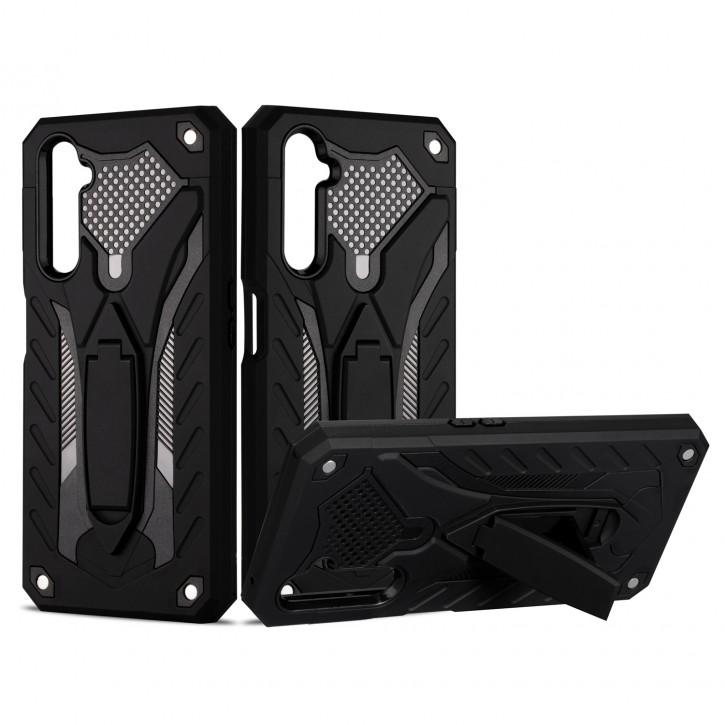 COOVY® Cover für Oppo Realme 6 Pro Bumper Case, Hülle Doppelschicht aus Plastik + TPU-Silikon, extra stark, Anti-Shock, Standfunktion |