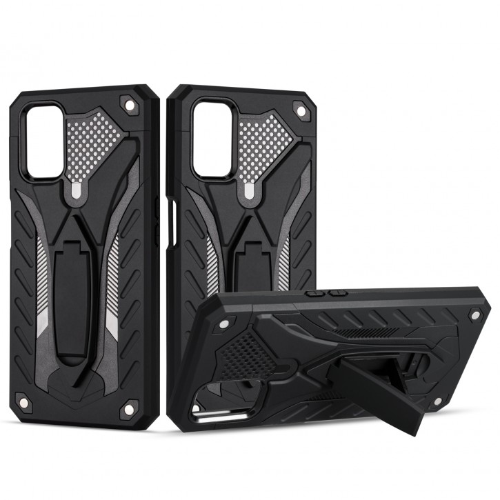 COOVY® Cover für Oppo A52 / A72 / A92 Bumper Case, Hülle Doppelschicht aus Plastik + TPU-Silikon, extra stark, Anti-Shock, Standfunktion  