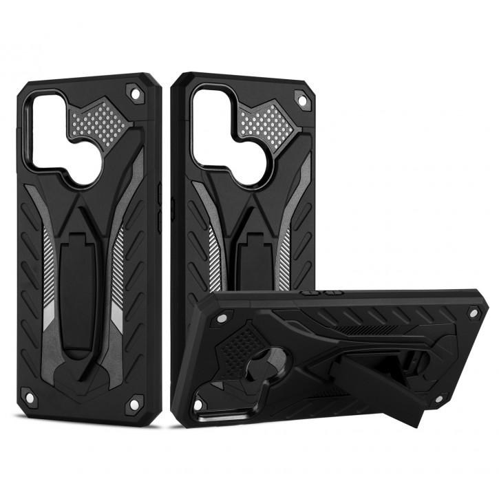 COOVY® Cover für Oppo A53 / A32 Bumper Case, Hülle Doppelschicht aus Plastik + TPU-Silikon, extra stark, Anti-Shock, Standfunktion |