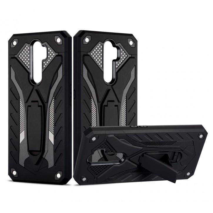 COOVY® Cover für Oppo A9 2020 Bumper Case, Hülle Doppelschicht aus Plastik + TPU-Silikon, extra stark, Anti-Shock, Standfunktion |