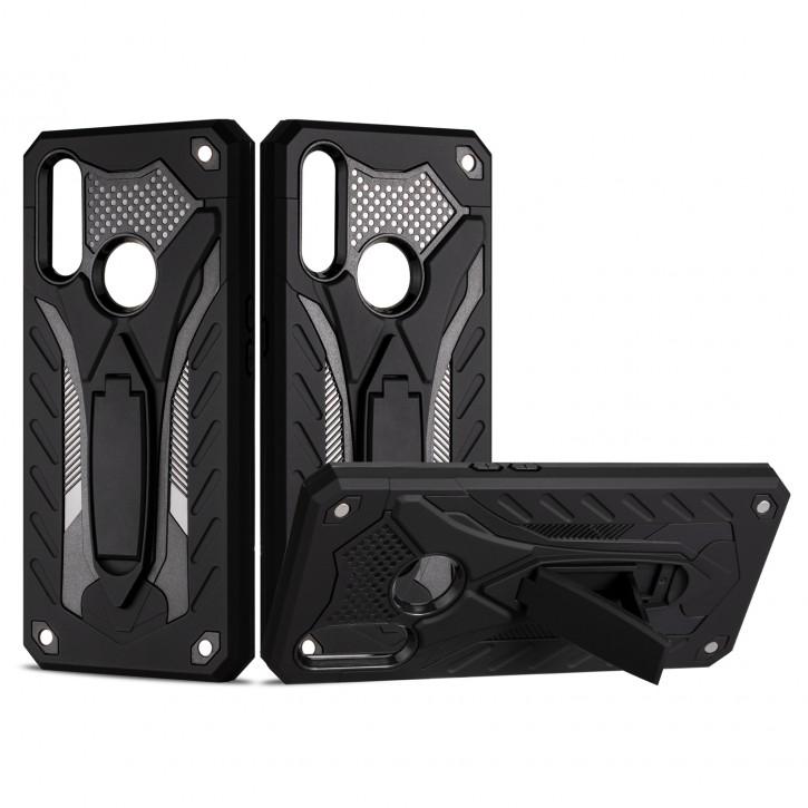 COOVY® Cover für Oppo A8 / A31 Bumper Case, Hülle Doppelschicht aus Plastik + TPU-Silikon, extra stark, Anti-Shock, Standfunktion |