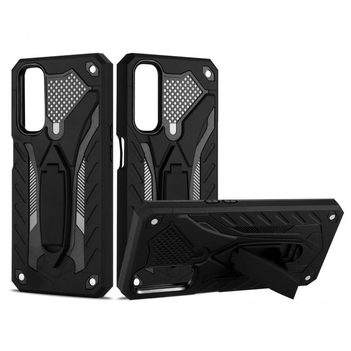 COOVY® Cover für Oppo Realme 7 Bumper Case, Hülle Doppelschicht aus Plastik + TPU-Silikon, extra stark, Anti-Shock, Standfunktion |