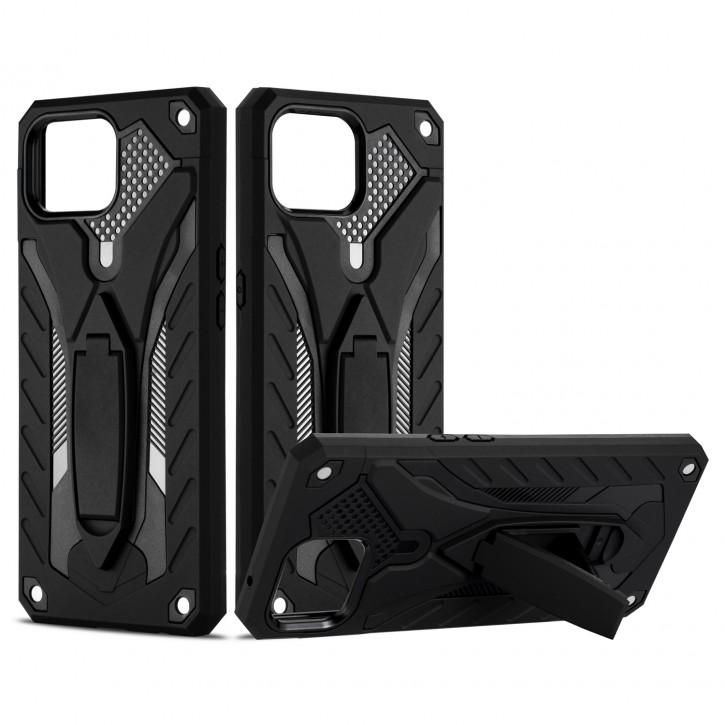 COOVY® Cover für Oppo Reno 4 Lite / A93 / F17 Pro Bumper Case, Hülle Doppelschicht aus Plastik + TPU-Silikon, extra stark, Anti-Shock, Standfunktion |