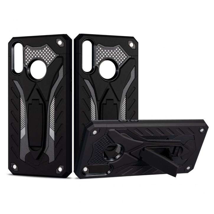 COOVY® Cover für Samsung Galaxy A20s SM-A207F/DS  Bumper Case, Hülle Doppelschicht aus Plastik + TPU-Silikon, extra stark, Anti-Shock, Standfunktion |