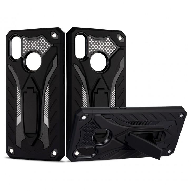 COOVY® Cover für Samsung Galaxy A10s SM-A107F/DS  Bumper Case, Hülle Doppelschicht aus Plastik + TPU-Silikon, extra stark, Anti-Shock, Standfunktion |