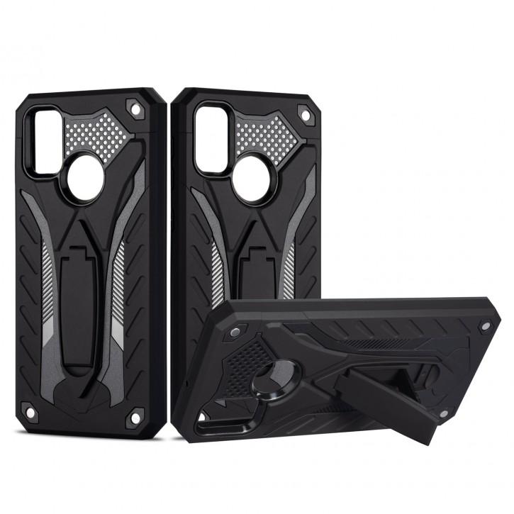COOVY® Cover für Samsung Galaxy M30s / M21 SM-M307FN/DS Bumper Case, Hülle Doppelschicht aus Plastik + TPU-Silikon, extra stark, Anti-Shock, Standfunktion |