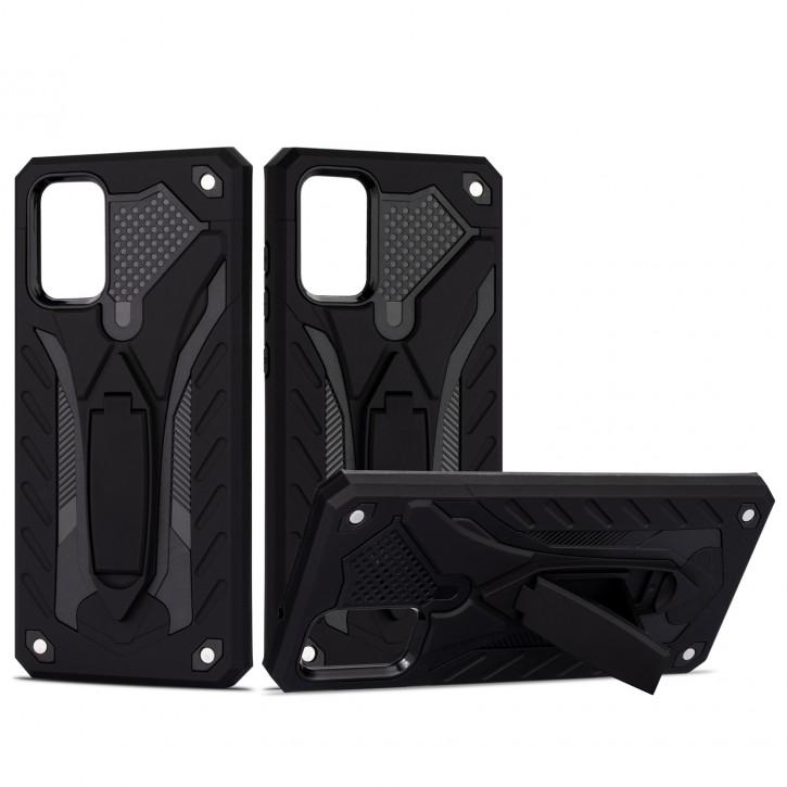 COOVY® Cover für Samsung Galaxy S20 + Plus SM-G986BLBDEUB Bumper Case, Hülle Doppelschicht aus Plastik + TPU-Silikon, extra stark, Anti-Shock, Standfunktion |