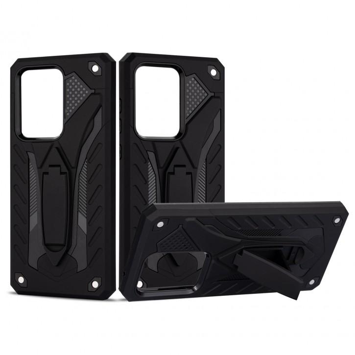 COOVY® Cover für Samsung Galaxy S20 Ultra SM-G988B/DS Bumper Case, Hülle Doppelschicht aus Plastik + TPU-Silikon, extra stark, Anti-Shock, Standfunktion |