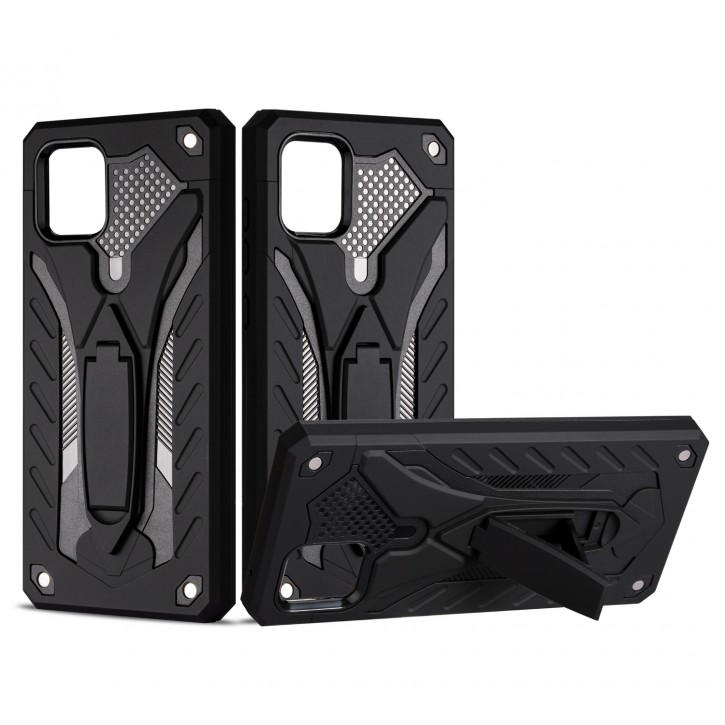 COOVY® Cover für Samsung Galaxy Note 10 Lite SM-N770F/DS Bumper Case, Hülle Doppelschicht aus Plastik + TPU-Silikon, extra stark, Anti-Shock, Standfunktion |