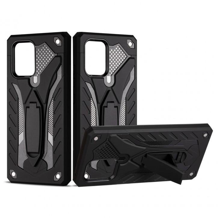 COOVY® Cover für Samsung Galaxy S10 Lite / SM-G770F/DS / A91 SM-A915F/DS Bumper Case, Hülle Doppelschicht aus Plastik + TPU-Silikon, extra stark, Anti-Shock, Standfunktion |