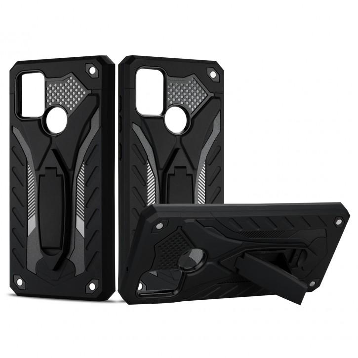COOVY® Cover für Samsung Galaxy A21s SM-A217F/DS Bumper Case, Hülle Doppelschicht aus Plastik + TPU-Silikon, extra stark, Anti-Shock, Standfunktion |