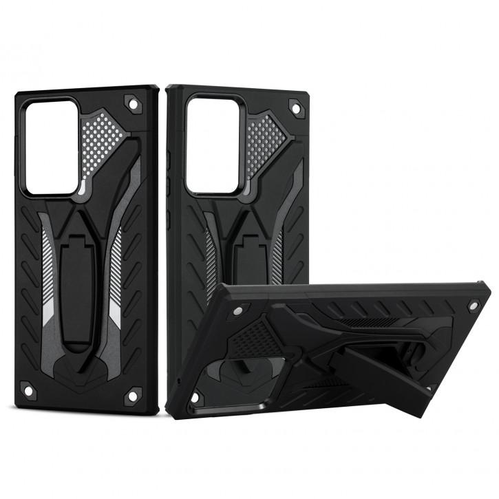 COOVY® Cover für Samsung Galaxy Note 20 Ultra  SM-N986B Bumper Case, Hülle Doppelschicht aus Plastik + TPU-Silikon, extra stark, Anti-Shock, Standfunktion |