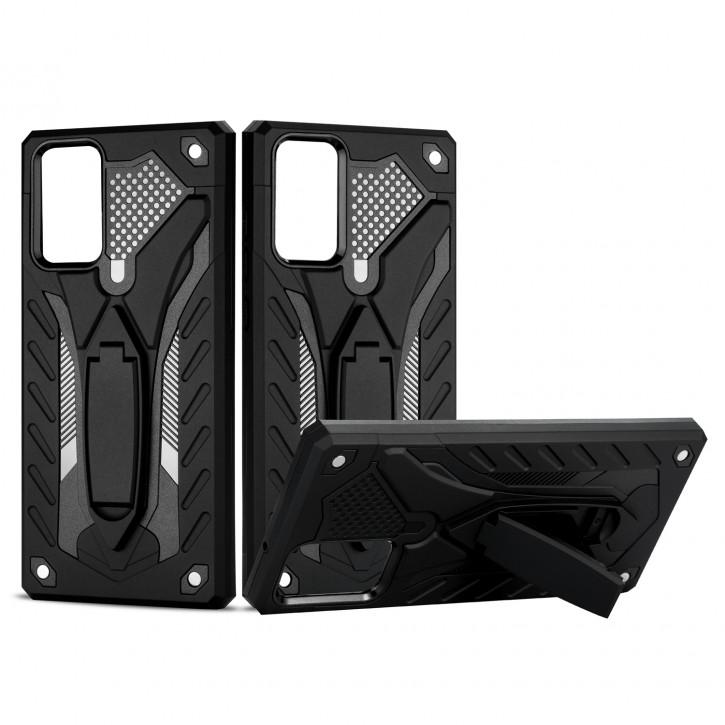 COOVY® Cover für Samsung Galaxy Note 20 SM-N980F/DS Bumper Case, Hülle Doppelschicht aus Plastik + TPU-Silikon, extra stark, Anti-Shock, Standfunktion |