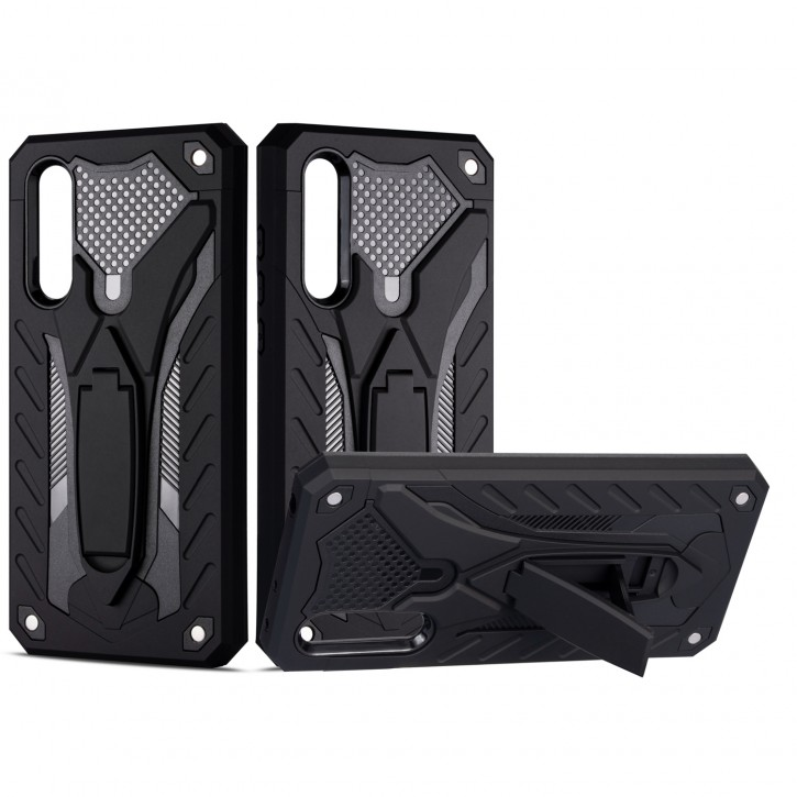 COOVY® Cover für Xiaomi Mi CC9 / 9 Lite Bumper Case, Hülle Doppelschicht aus Plastik + TPU-Silikon, extra stark, Anti-Shock, Standfunktion  