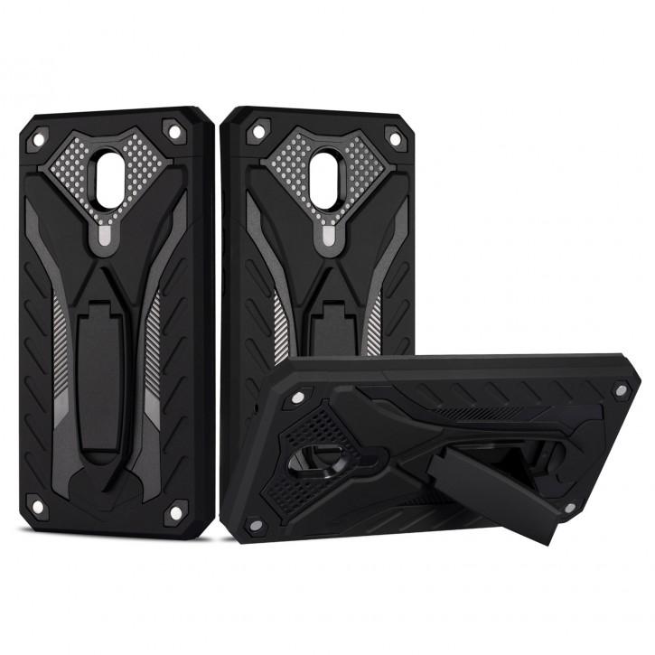 COOVY® Cover für Xiaomi Redmi  8A / 8A Pro Bumper Case, Hülle Doppelschicht aus Plastik + TPU-Silikon, extra stark, Anti-Shock, Standfunktion  