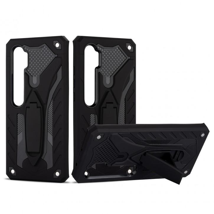 COOVY® Cover für Xiaomi Mi Note 10 / Note 10 Pro / Note 10 Lite Bumper Case, Hülle Doppelschicht aus Plastik + TPU-Silikon, extra stark, Anti-Shock, Standfunktion |
