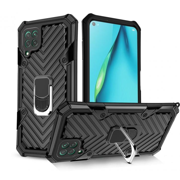 COOVY® Cover für Huawei P40 Lite / nova 6 SE / nova 7i Hülle Case PC + TPU-Silikon, extra stark, Anti-Shock, Stand Funktion + Haltering + Magnethalter kompatibel |