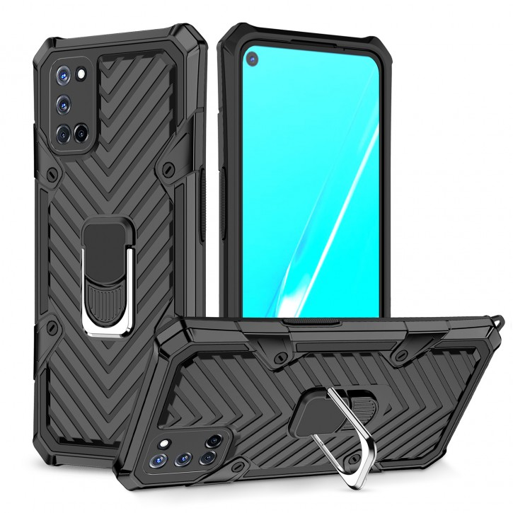 COOVY® Cover für Oppo A52 / A72 / A92 Hülle Case PC + TPU-Silikon, extra stark, Anti-Shock, Stand Funktion + Haltering + Magnethalter kompatibel |
