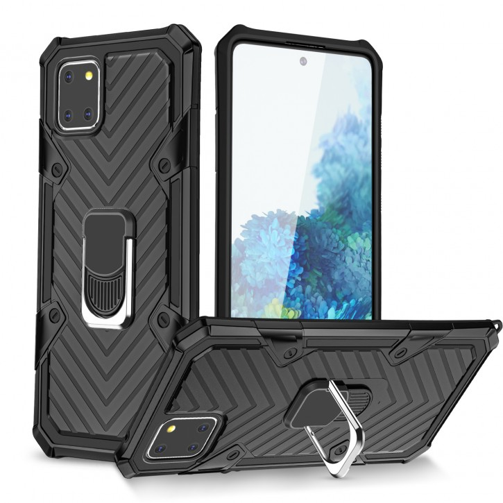 COOVY® Cover für Samsung Galaxy Note 10 Lite SM-N770F/DS Hülle Case PC + TPU-Silikon, extra stark, Anti-Shock, Stand Funktion + Haltering + Magnethalter kompatibel |