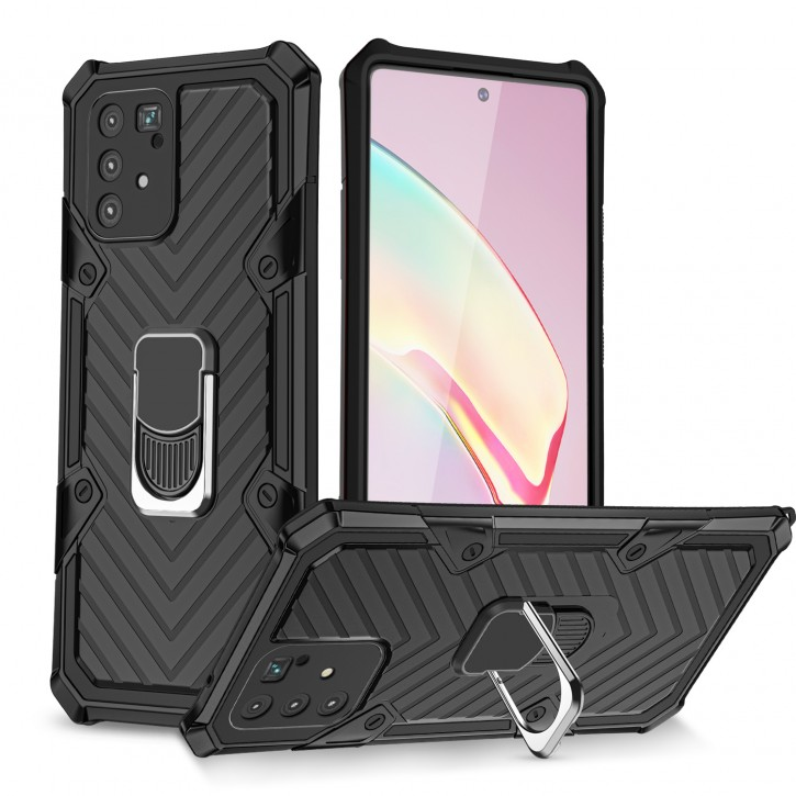 COOVY® Cover für Samsung Galaxy S10 Lite / SM-G770F/DS / A91 SM-A915F/DS Hülle Case PC + TPU-Silikon, extra stark, Anti-Shock, Stand Funktion + Haltering + Magnethalter kompatibel |
