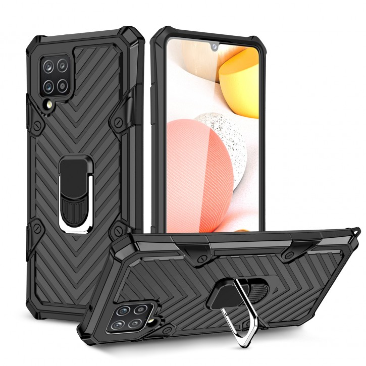 COOVY® Cover für Samsung Galaxy A42 5G SM-A426F Hülle Case PC + TPU-Silikon, extra stark, Anti-Shock, Stand Funktion + Haltering + Magnethalter kompatibel |