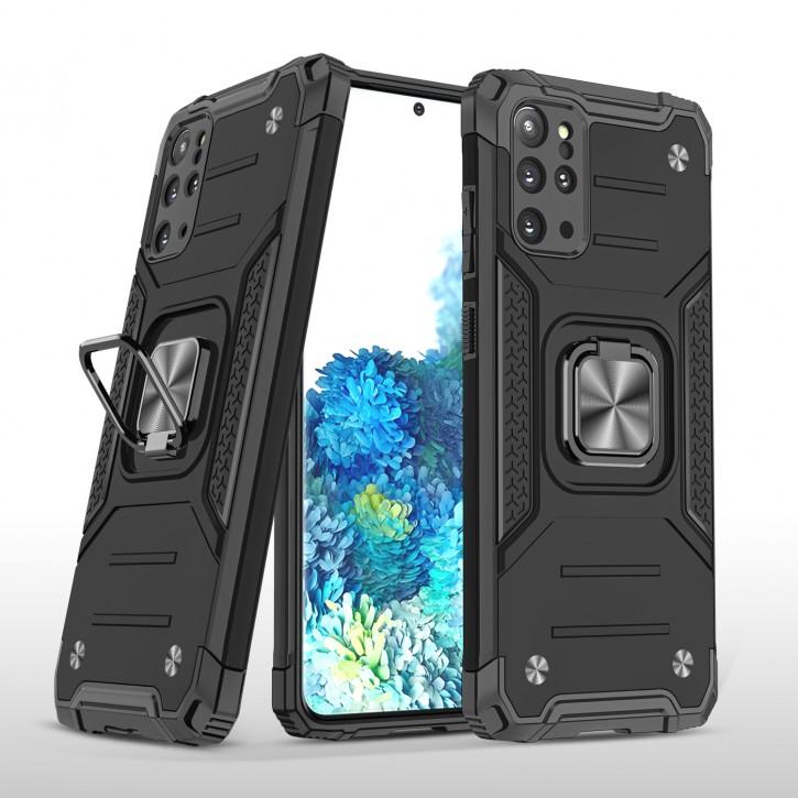 COOVY® Cover für Samsung Galaxy S20 + Plus SM-G986BLBDEUB Hülle Case PC + TPU-Silikon, extra stark, Anti-Shock, Stand Funktion + Haltering + Magnethalter kompatibel |