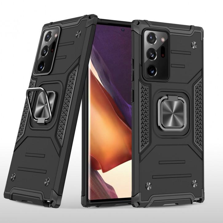 COOVY® Cover für Samsung Galaxy Note 20 Ultra  SM-N986B Hülle Case PC + TPU-Silikon, extra stark, Anti-Shock, Stand Funktion + Haltering + Magnethalter kompatibel |