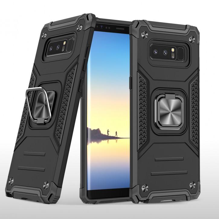 COOVY® Cover für Samsung Galaxy Note 8 SM-N950 / SM-N950F / SM-N950FD Hülle Case PC + TPU-Silikon, extra stark, Anti-Shock, Stand Funktion + Haltering + Magnethalter kompatibel |