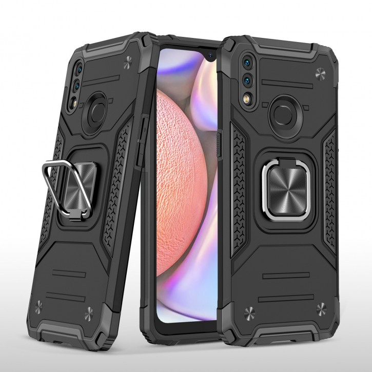 COOVY® Cover für Samsung Galaxy A10s SM-A107F/DS  Hülle Case PC + TPU-Silikon, extra stark, Anti-Shock, Stand Funktion + Haltering + Magnethalter kompatibel |