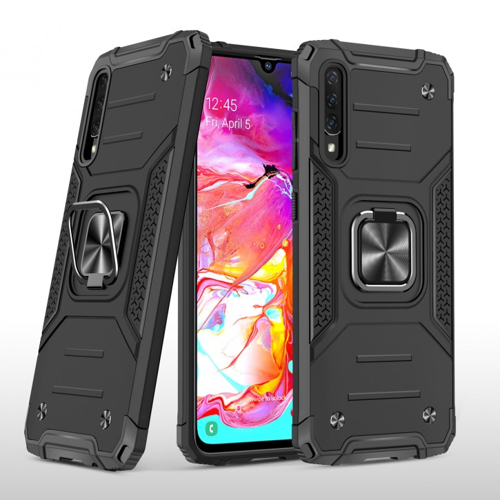 COOVY® Cover für Samsung Galaxy A70s / A70 SM-A707F/DS, SM-A707FN/DS Hülle Case PC + TPU-Silikon, extra stark, Anti-Shock, Stand Funktion + Haltering + Magnethalter kompatibel |