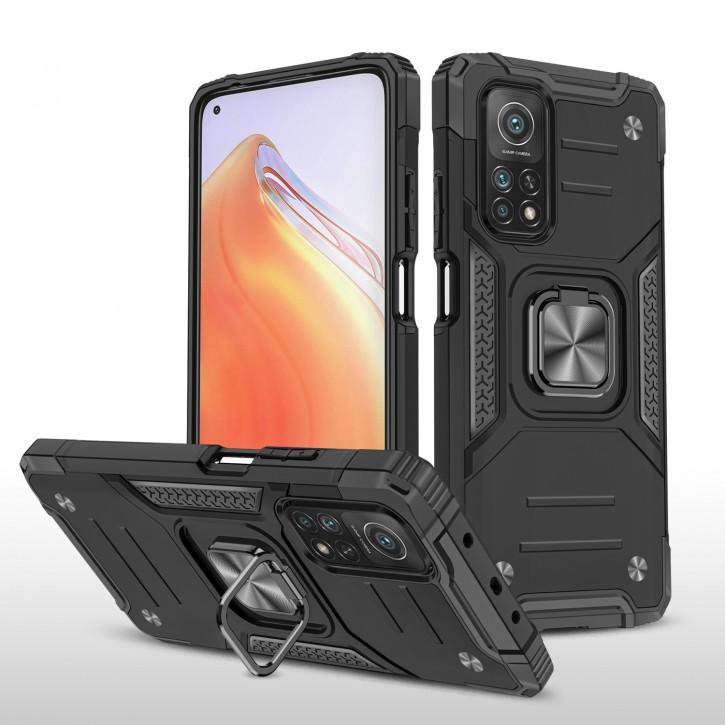 COOVY® Cover für Xiaomi Mi 10T Pro 5G / Mi 10T 5G Hülle Case PC + TPU-Silikon, extra stark, Anti-Shock, Stand Funktion + Haltering + Magnethalter kompatibel |