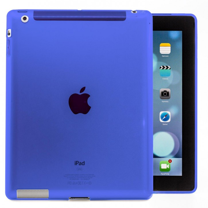 COOVY® Cover für Apple iPad 2 / 3 / 4 leichte, dünne Silikon Tablet Hülle Case Bumper in farbig transparentem Style als Backcover