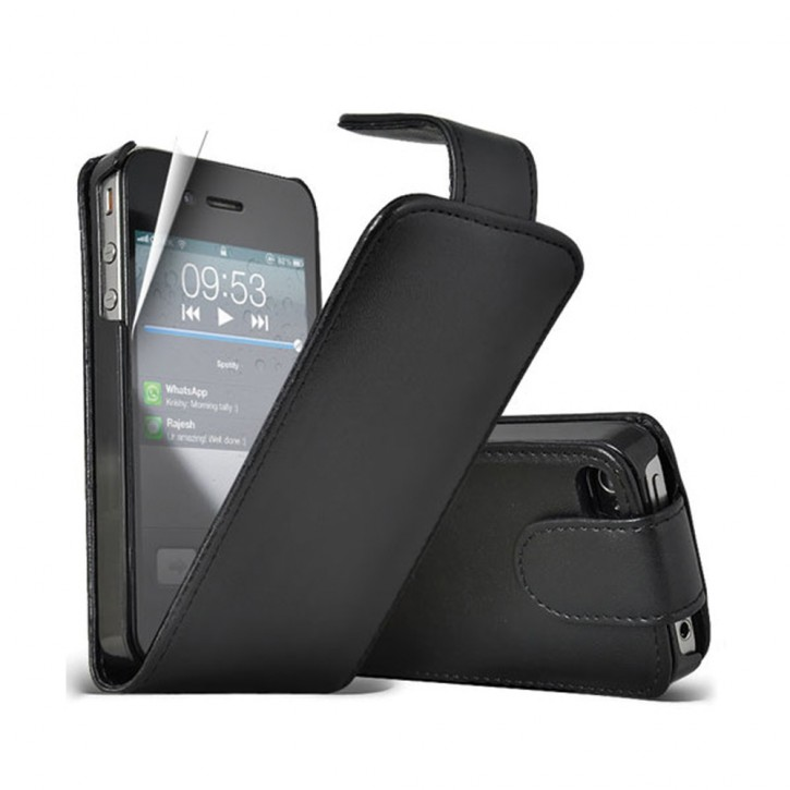 Flip Cover für APPLE iPhone 4/4s TASCHE ETUI HANDY HÜLLE CASE