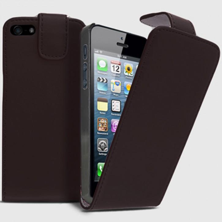 Flip Cover für APPLE iPhone 5/5s TASCHE ETUI HANDY HÜLLE CASE