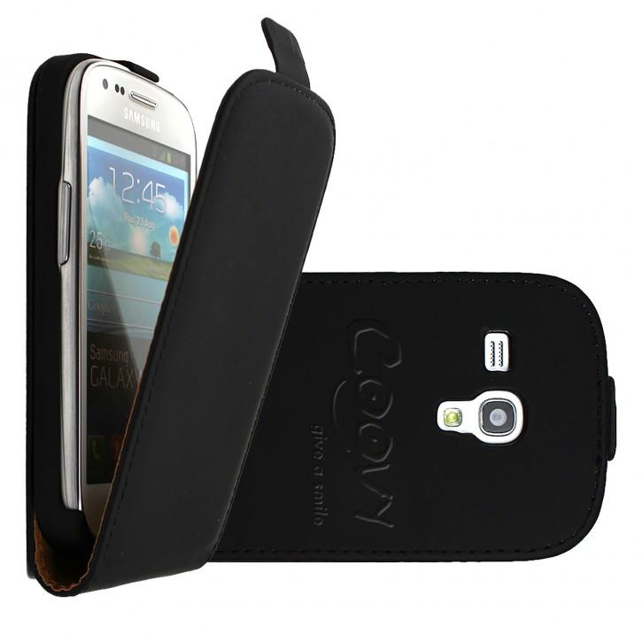 COOVY® Cover für Samsung Galaxy S3 MINI GT-i8200 GT-i8190 GT-i8195 Slim Flip Case Tasche Etui inklusive gratis Displayschutzfolie