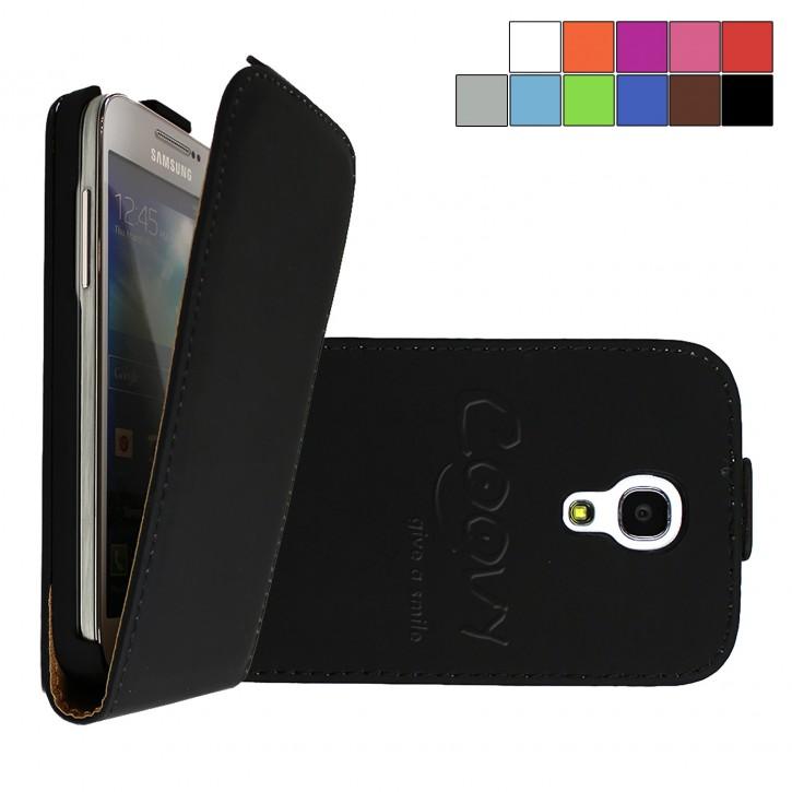 COOVY® Cover für Samsung Galaxy S4 MINI GT-i9190 GT-i9195 GT-i9192 Slim Flip Case Tasche Etui inklusive gratis Displayschutzfolie