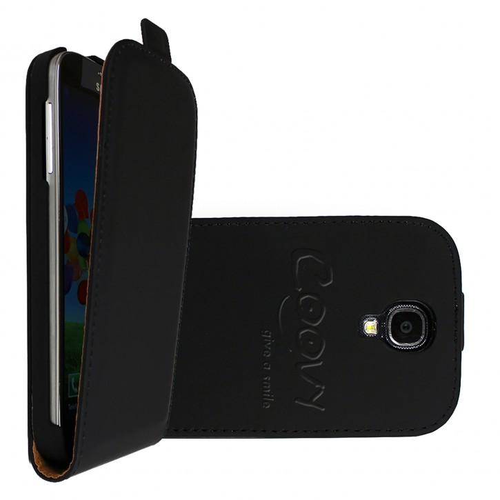 COOVY® Cover für Samsung Galaxy S4 GT-i9500 GT-i9505 GT-i9506 Slim Flip Case Tasche Etui inklusive gratis Displayschutzfolie