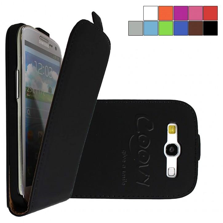 COOVY® Cover für Samsung Galaxy S3 GT-i9300 GT-i9305 Neo GT-i9301 Slim Flip Case Tasche Etui inklusive gratis Displayschutzfolie